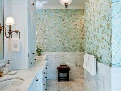 Обои для ванной комнаты – рекомендации по выбору