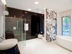 Перегородки в ванной комнате - стильно и функционально