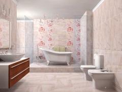 Розовая ванная комната - атмосфера нежности и романтичности