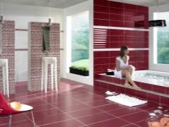 Бордовая ванная комната - гармония и изысканность
