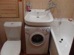Дизайн ванной комнаты в хрущевке со стиральной машиной - советы специалистов
