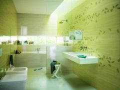 Салатовая ванная комната - весеннее пробуждение
