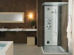 Душевая кабина с низким поддоном - оптимальное решение для небольших ванных комнат