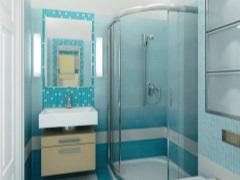Душевая кабина в маленькой ванной комнате – практично и элегантно