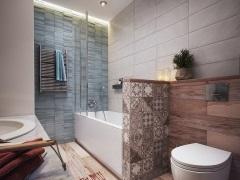 Модная плитка в дизайне ванной комнаты 2017