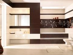 Отделка ванной комнаты плиткой - 112 фото