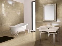 Плитка в интерьере ванной комнаты ([N] фото)