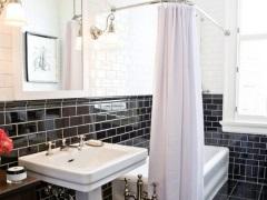 Плитка кабанчик в дизайне ванной комнаты
