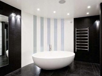 Черные стены в ванной комнате