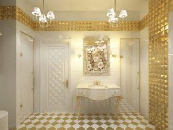 Полосы из золота в ванной