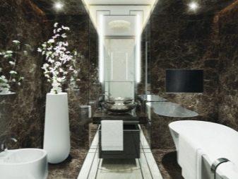 Отделочные материалы для ванной в стиле арт-деко