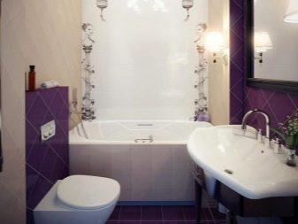 Плитка для маленькой ванной комнаты, дизайн (45 фото)