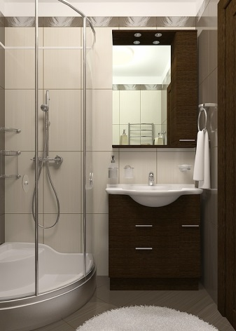 Небольшая ванная комната с мебелью