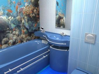 Наливной пол в ванной 4 кв. м.