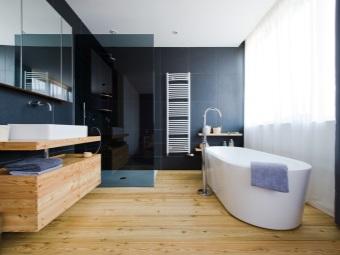 Ламинат в ванной 4 кв м