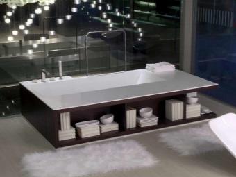 ванна из акрила в интерьере
