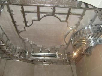 Многоуровневый каркас под натяжной потолок