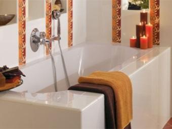 Стандартная ванна из кварила