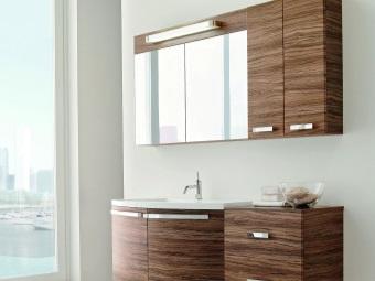 мебель для ванной из шпона