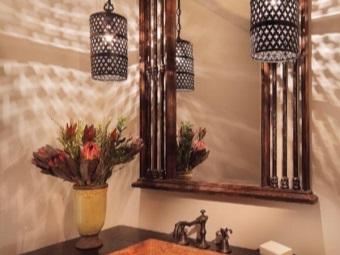 Сочетание светильников и дизайна ванной комнаты