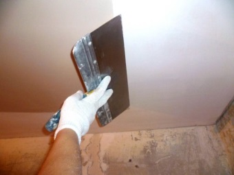 Финишная отделка потолка из гипсокартона