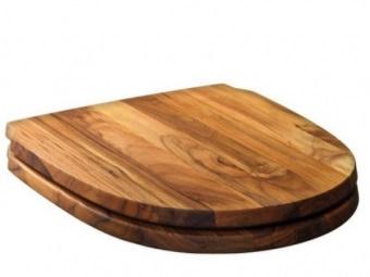 Деревянная крышка для унитаза