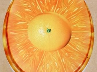Пластиковая крышка для унитаза - апельсин
