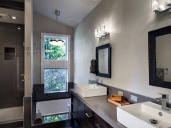 Мебель для ванной серых оттенков