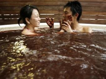 Шоколадная ванна для двоих
