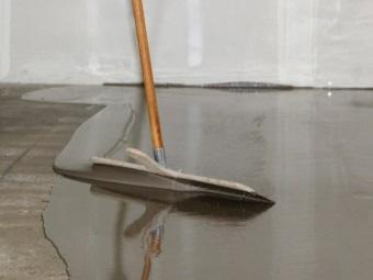 Цементно-акриловый пол