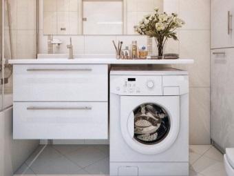 Варианты размещения стиральной машины
