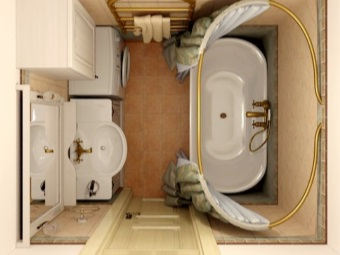 План ванной комнаты со стиральной машиной
