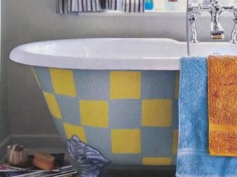 Рисунок на ванной