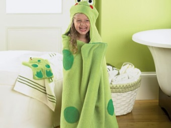 Полотенце-лягушка для детей