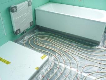 Экономия на теплых полах в ванной комнате