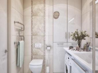 Стиральная машина в дизайне ванной