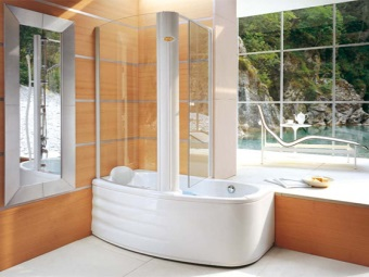 Прямоугольная комбинированная ванна