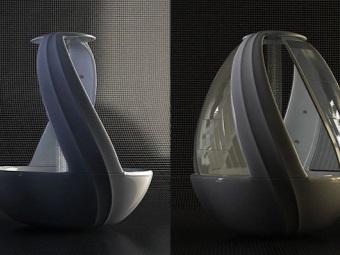 Отдельностоящая модель комбинированной ванны с душем