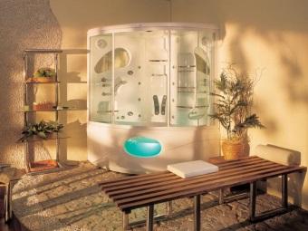 Гидробокс в дизайне ванной комнаты