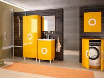 Мебель для встраиваемой стиральной машины в ванной