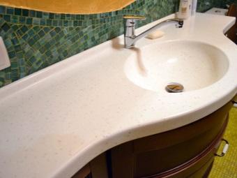 Искусственная каменная раковина из агломерата для ванной