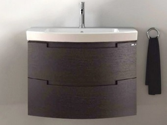 Раковина с тумбой из пластика для ванной