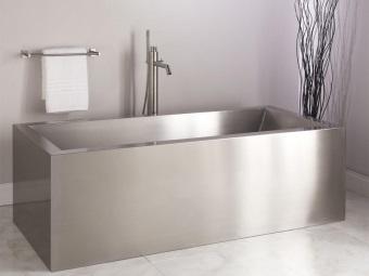 Размеры металлической ванны