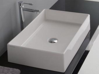 Форма накладной раковины для ванной комнаты