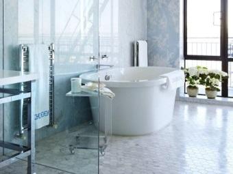 Прозрачные перегородки для ванной комнаты