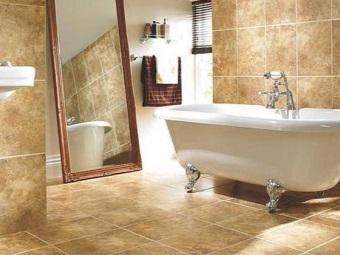 Уход за керамогранитной плиткой в ванной