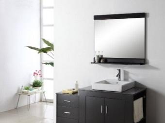 Правильная высота зеркала с полочкой для ванной
