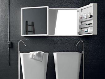 Правильное размещение зеркала с полкой в ванной комнате