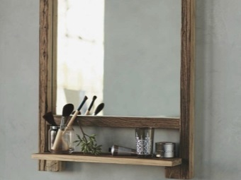 Материал полочки для зеркала в ванной