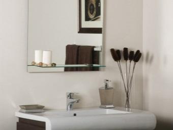 Материалы полки для зеркал ванной